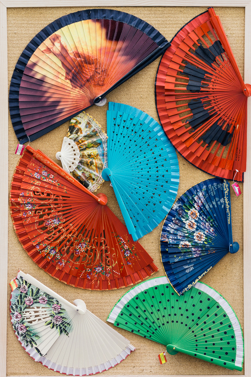 no. 3. Seasonal, even if we are not in that season: Fancy folding hand fans, for the Gitanilla on you.